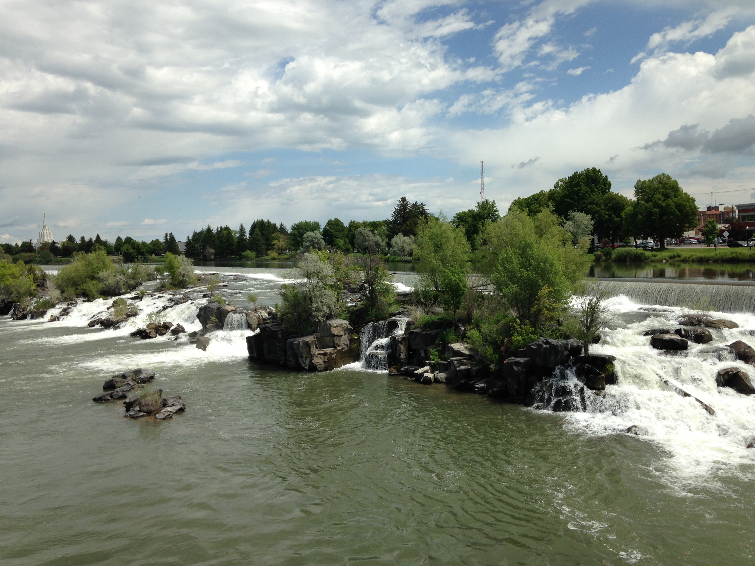Idaho Falls Downtown Greenbelt Waterfalls - Idaho Falls Auto Repair