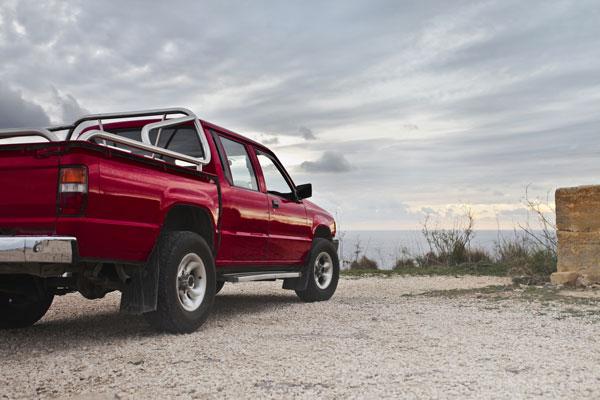 Red Pickup Truck - idaho falls auto repair