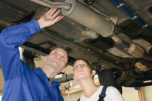 Checking Muffler - idaho falls auto repair