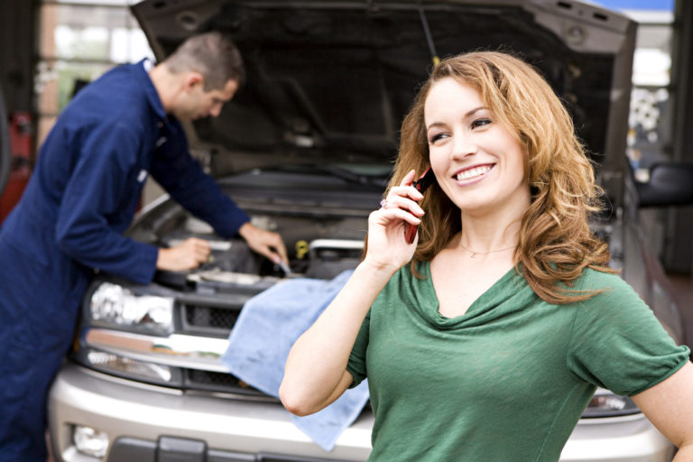 Woman On the Phone - idaho falls auto repair